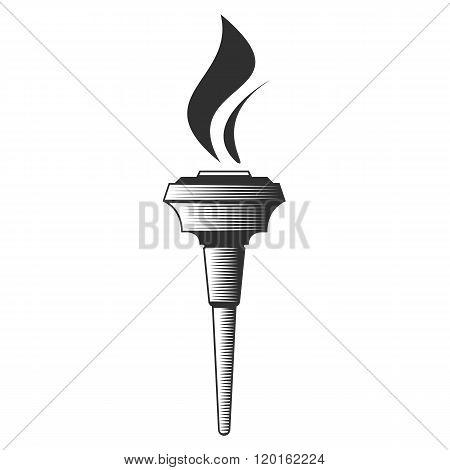 Vector illustration Torch.