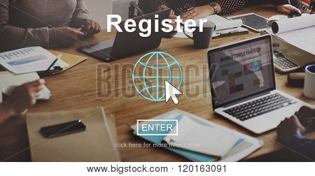Register Application Membership Join Subscribe Concept