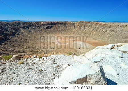 U.S.A., Arizona, Meteor City, the meteor crater near the Route 66