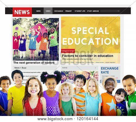 Special Education Studying School ADHA Behavior Concept