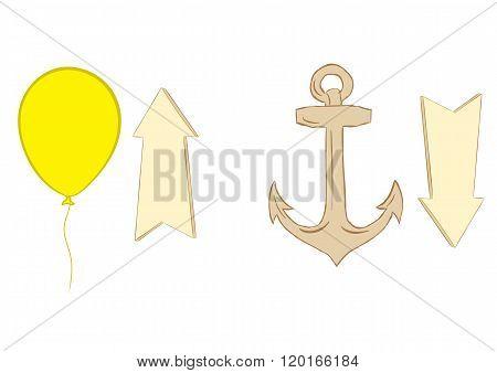 Ball anchor and arrows