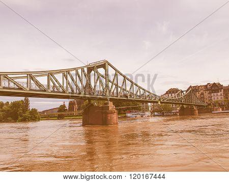 Iron Bridge In Frankfurt Vintage