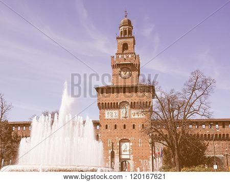 Castello Sforzesco Milan Vintage