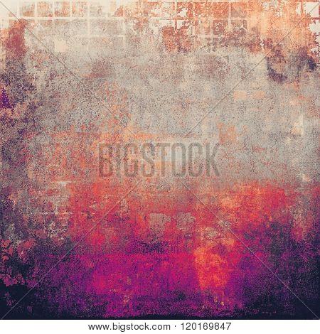 Grunge retro vintage textured background. With different color patterns: yellow (beige); brown; red (orange); purple (violet); gray