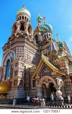 Famoce Church Of The Savior On Spilled Blood In St. Petersburg, Russia