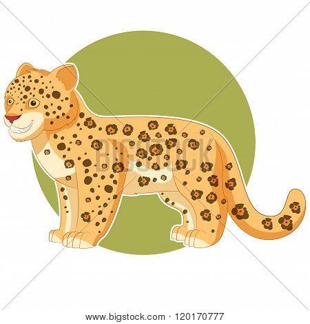 Cartoon smiling Jaguar