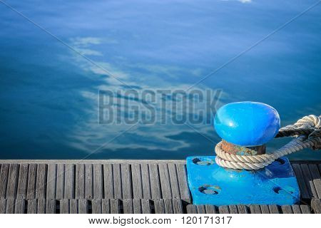 Marine Dock For Yachts And Boats.