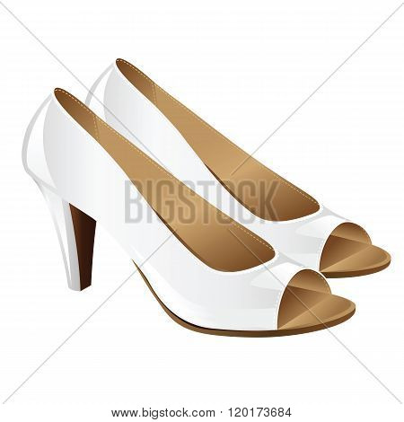 White elegant official shoes