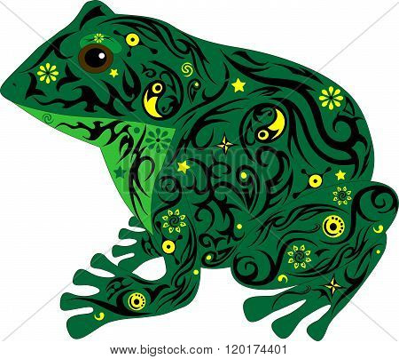 Frog Darkly Green