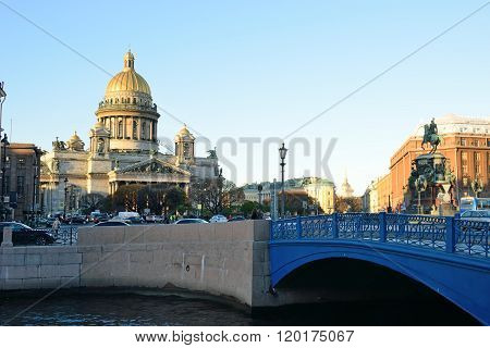 View Of The Blue Bridge, St. Isaac's Cathedral