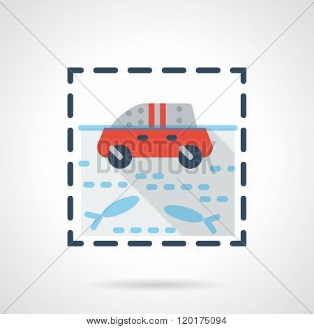 Flood flat color design vector icon
