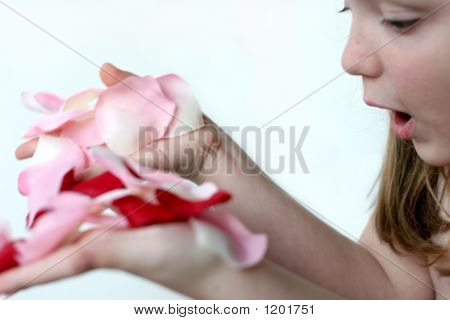 Girl Holding Petals F