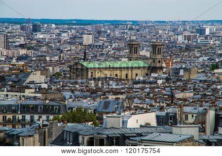 Paris France 2014 April 20 The Montmarte district of Paris is an historic entertainment area of Paris with views over the city ** Note: Soft Focus at 100%, best at smaller sizes