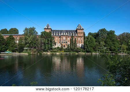 The castle along the Po River, Turin, Italy