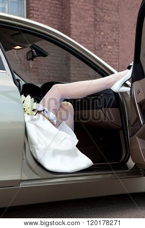 Bride's feet.