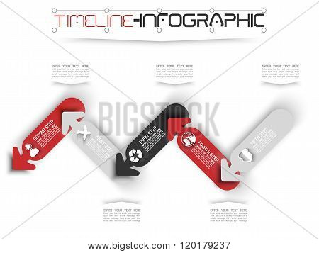 Timeline Infographic New Style  15 Red