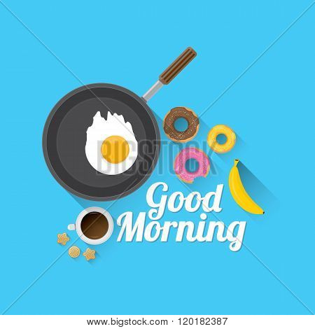 good morning concept. vector food background