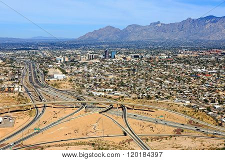 Skyline Of Tucson, Arizona