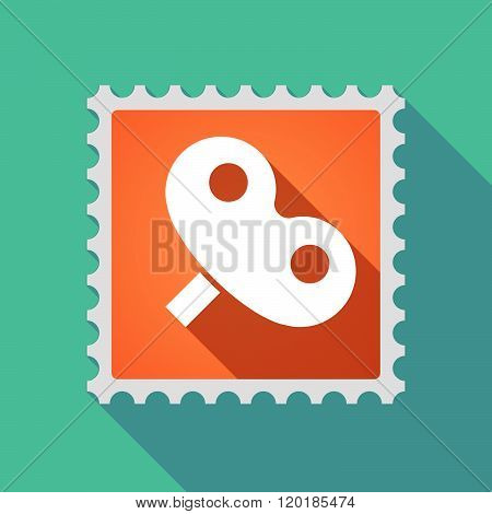 Long Shadow Mail Stamp Icon With A Toy Crank