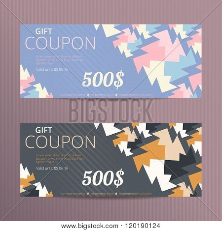Vector gift voucher with elegant design.