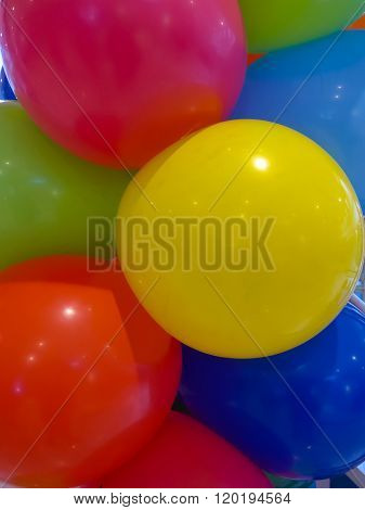 Hellium Balloons In Different Colors