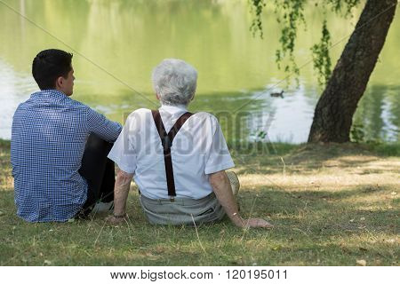 Sitting At The Lake