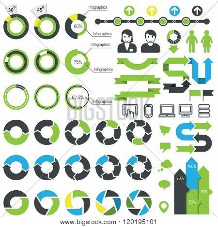 Set Of Infographic Elements, Icons And Statistics Data