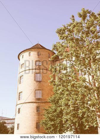 Altes Schloss (old Castle), Stuttgart Vintage
