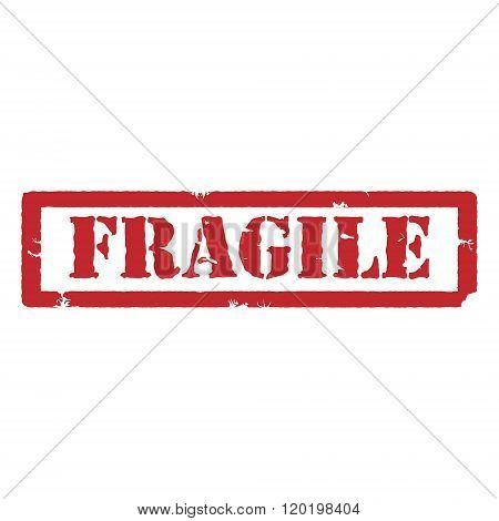 Fragile Red Stamp