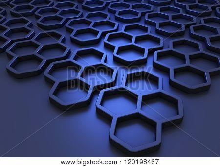 Sleek Honeycomb Background