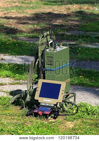 MOSCOW - SEPTEMBER 12:  Remote control equipment for robot-field engineer -   on September 12, 2014 in Moscow