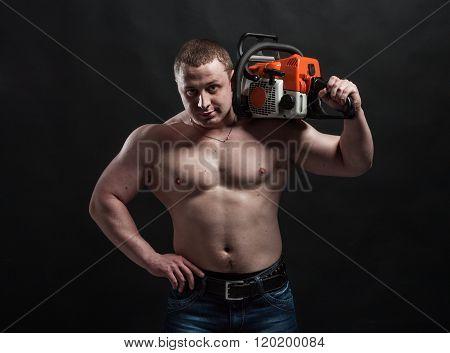 strong brutal man