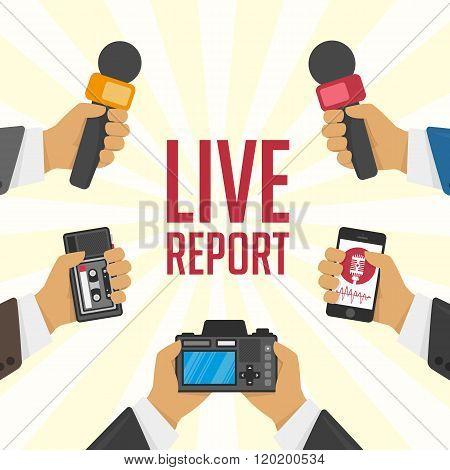 Illustration live report.