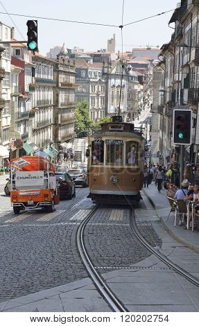 Tram In Clerigos Street
