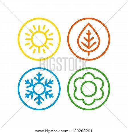 Vector icons seasons.