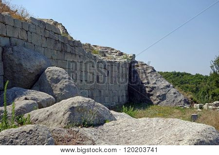 The historical complex Perperikon - ancient city built in Bulgaria near Kardzhali