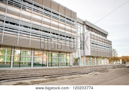 Modern hospital building clinic exterior