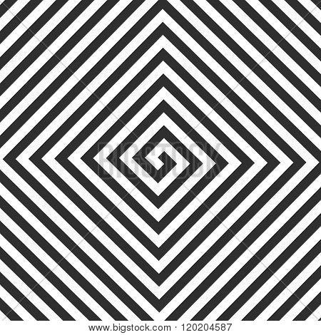 Vector square spiral.