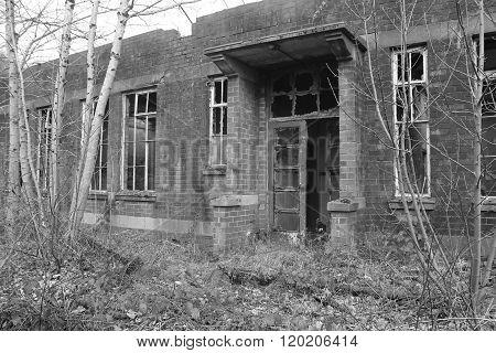 Creepy abandoned building, warehouse