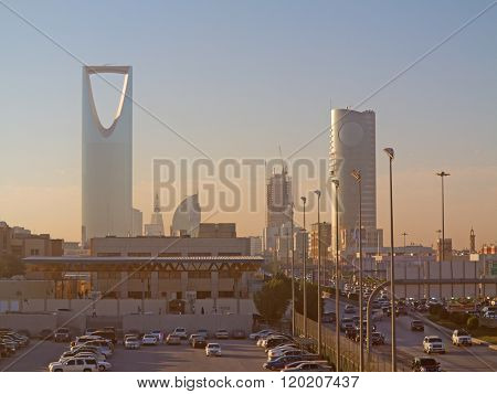 RIYADH - FEBRUARY 29: Early morning in Riyadh downtown on February 29, 2016 in Riyadh, Saudi Arabia.
