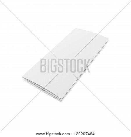 Blank folded realistic Brochure Template