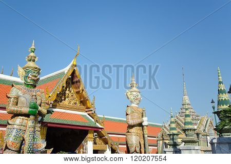 Demon Guardian at Wat Phra Kaew, Grand Palace, Bangkok. Thailand