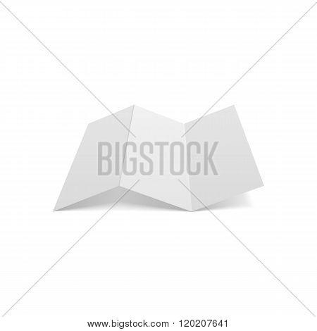 Triple fold realistic blank a4 Document