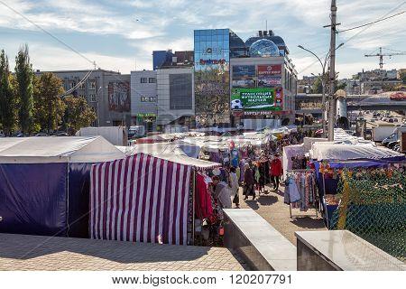 Interim clothing market and shopping Center GreeNN. Kursk. Rus