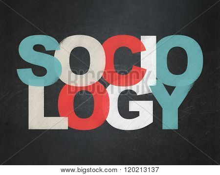 Studying concept: Sociology on School Board background