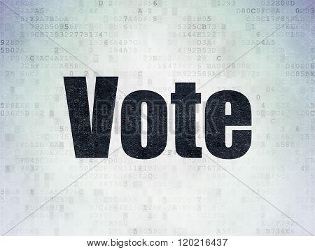 Political concept: Vote on Digital Paper background