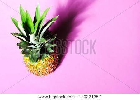 pineapple on pink