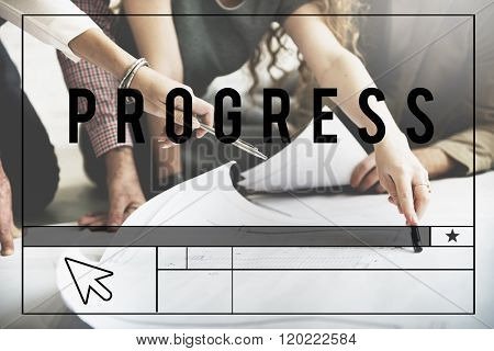 Progress Improvement Development Move Forward Concept