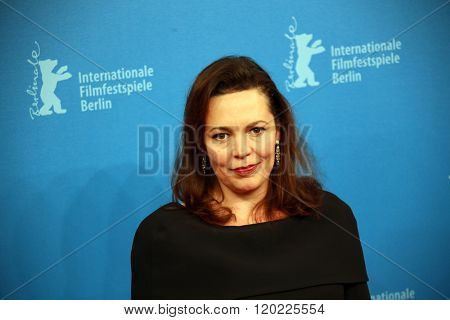 Berlin, Germany - February 18, 2016 - Olivia Colman  attends the 'The Night Manager' premiere during the 66th Berlinale International Film Festival