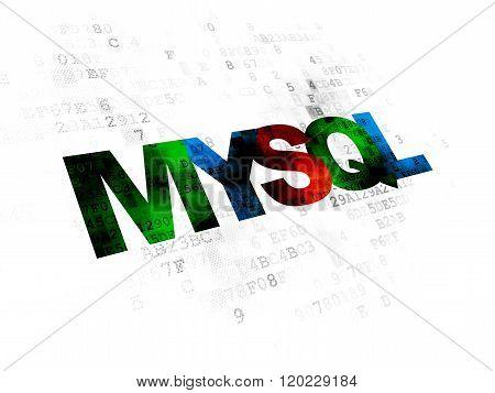 Programming concept: MySQL on Digital background